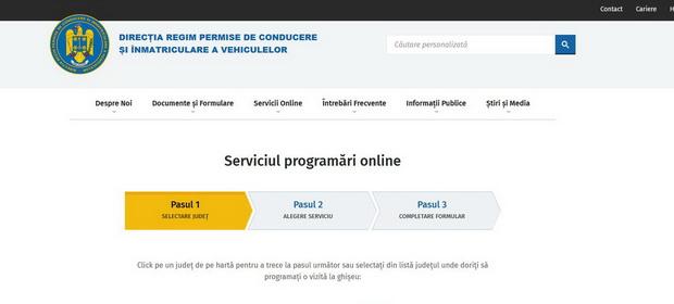 Programări online la permise pe platforma națională www.drpciv.ro