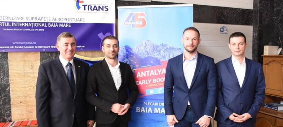 Din iunie 2019, o nouă cursă charter Baia Mare - Antalya și retur este oferită de Agenția Paralela 45