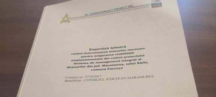 Expertiza tehnică pentru asigurarea stabilității amplasamentului din cadrul proiectului SMID de la Fărcașa a fost finalizată