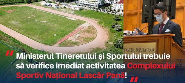 """Brian Cristian, deputat USRPLUS: """"Ministerul Tineretului și Sportului trebuie să verifice imediat activitatea Complexului Sportiv Lascăr Pană!"""""""